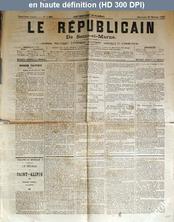 LE REPUBLICAIN DE SEINE ET MARNE  numéro 1226 du 27 février 1884