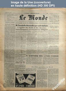 LE MONDE  numéro 3413 du 13 janvier 1956