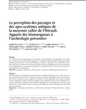 La perception des paysages et des agro-systèmes antiques de la moyenne vallée de l'Hérault. Apports des biomarqueurs à l'archéologie préventive