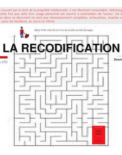 LA RECODIFICATION