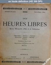 LES HEURES LIBRES  numéro 5 du 01 mai 1892