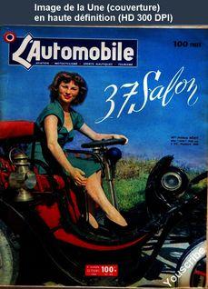 L' AUTOMOBILE  numéro 54 du 01 octobre 1950