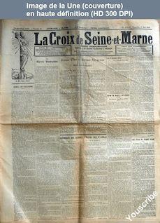 LA CROIX DE SEINE-ET-MARNE  numéro 21 du 26 mai 1912
