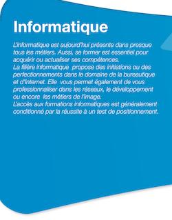 Informatique - Cours municipaux pour adultes de Paris