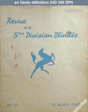 REVUE DE LA 5 EME DIVISION BLINDEE numéro 17 du 15 mars 1947