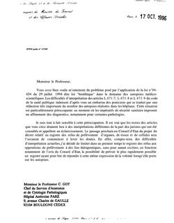 Les Autopsies médico-scientifiques : rapport remis au Secrétaire d'Etat à la santé et à la sécurité sociale