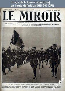 LE MIROIR  numéro 192 du 29 juillet 1917