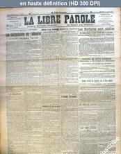 LA LIBRE PAROLE  du 08 juillet 1917