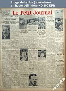 LE PETIT JOURNAL  numéro 22536 du 28 septembre 1924