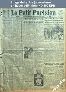 LE PETIT PARISIEN  numéro 13589 du 12 janvier 1914