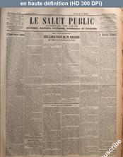 LE SALUT PUBLIC  numéro 34 du 03 février 1921