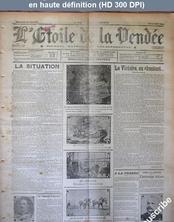 L' ETOILE DE LA VENDEE  numéro 2975 - 76 du 23 mai 1915