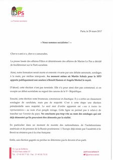 LETTRE CAMBADELIS PS