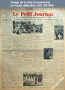 LE PETIT JOURNAL  numéro 22027 du 08 mai 1923