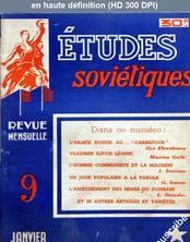 ETUDES SOVIETIQUES numéro 9 du 01 janvier 1949