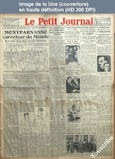 LE PETIT JOURNAL  numéro 24447 du 22 décembre 1929