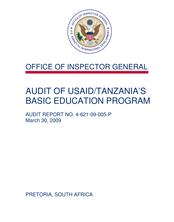 Audit of USAID Tanzania's Basic Education Program