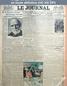 LE JOURNAL  numéro 11168 du 16 mai 1923