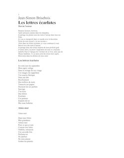 Les lettres écarlates