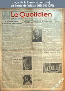 LE QUOTIDIEN  numéro 657 du 27 novembre 1924