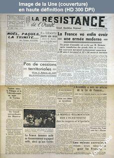 LA RESISTANCE DE L'OUEST  numéro 409 du 24 décembre 1945