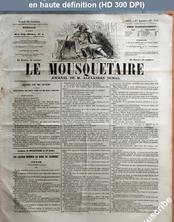 LE MOUSQUETAIRE  numéro 302 du 29 octobre 1855