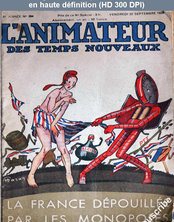 L' ANIMATEUR DES TEMPS NOUVEAUX  numéro 394 du 22 septembre 1933