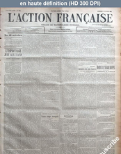 L' ACTION FRANCAISE  numéro 278 du 04 octobre 1912