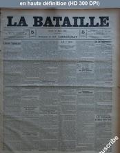 LA BATAILLE  numéro 790 du 14 mars 1891