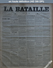 LA BATAILLE  numéro 783 du 07 mars 1891