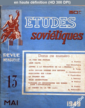 ETUDES SOVIETIQUES numéro 13 du 01 mai 1949
