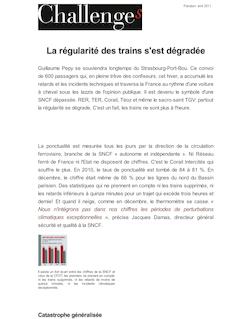 La régularité des trains s'est dégradée