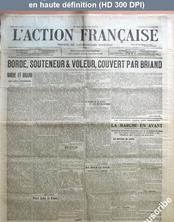 L' ACTION FRANCAISE  numéro 294 du 20 octobre 1912