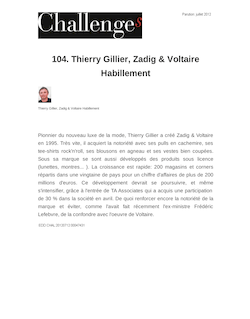104. Thierry Gillier, Zadig & Voltaire Habillement