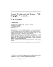 Analyse des dépendances à distance à l'aide de graphes de contraintes