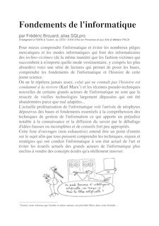 Fondements de l'informatique