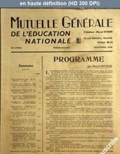 MUTUELLE GENERALE DE L'EDUCATION NATIONALE numéro 2 du 01 novembre 1958