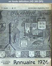 LES NORMANDS DE PARIS  numéro 80 du 01 juillet 1926