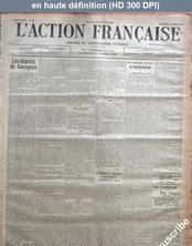 L' ACTION FRANCAISE  numéro 309 du 05 novembre 1913