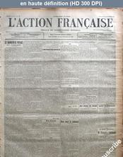 L' ACTION FRANCAISE  numéro 264 du 21 septembre 1913
