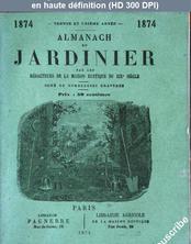 ALMANACH DU JARDINIER du 01 janvier 1874