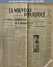 La NOUVELLE REPUBLIQUE  numéro 470 du 02 mars 1946