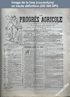 LE PROGRES AGRICOLE  numéro 2412 du 14 octobre 1934