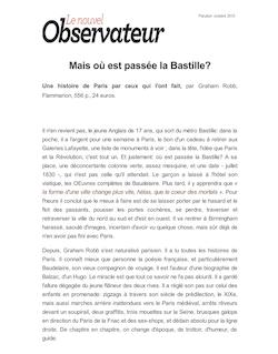 Mais où est passée la Bastille?