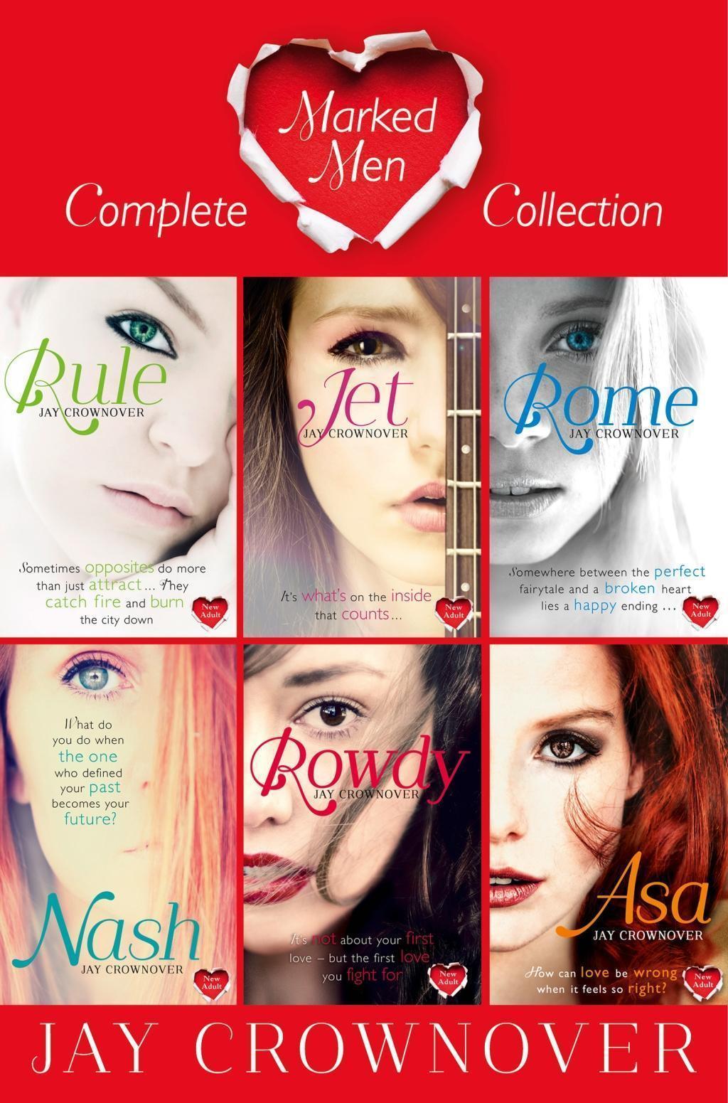 The Marked Men Series Books 1-6: Rule, Jet, Rome, Nash, Rowdy, Asa