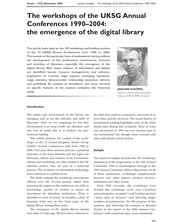 The Workshops of the Annual UKSG Conferences 1990-2004: The Emergence of the Digital Library