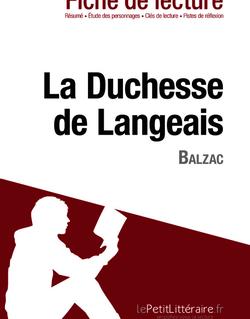 La Duchesse de Langeais de Balzac (Fiche de lecture)