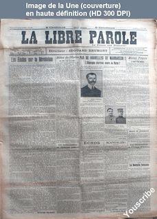 LA LIBRE PAROLE  du 31 août 1912