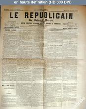 LE REPUBLICAIN DE SEINE ET MARNE  numéro 1283 du 13 juillet 1884