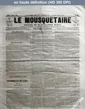 LE MOUSQUETAIRE  numéro 316 du 07 octobre 1854